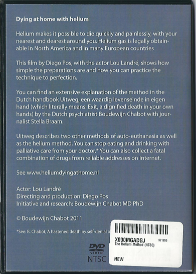 The Helium Method DVD back cover